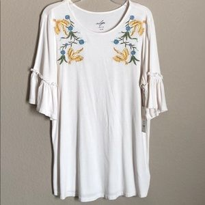 Francesca's Embroidered Top